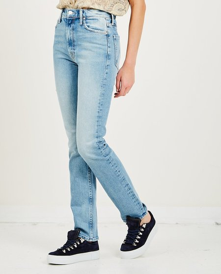 Mother Denim High Waisted Rider Skimp Jeans - Give It Up