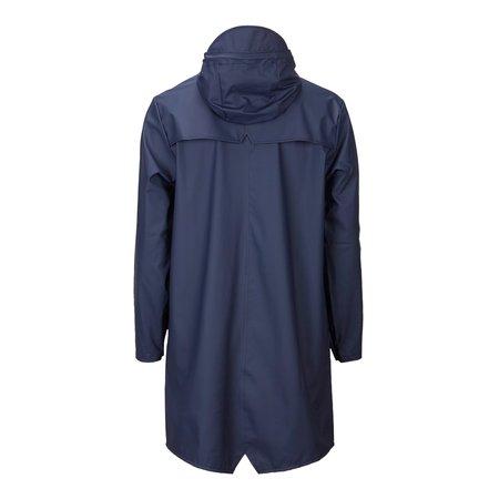 Rains Long Hooded Jacket Blue