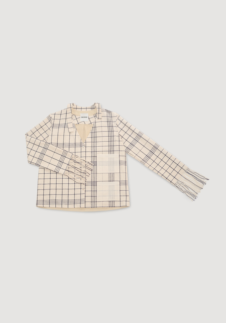 OK KINO Fringed blouse - Neutrals
