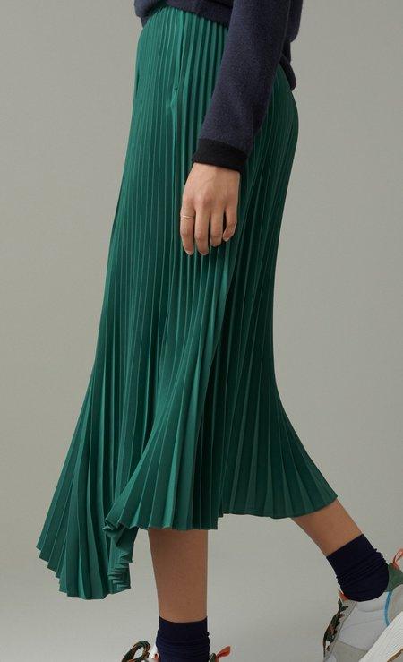 CLOSED Avery Asymmetric Pleated Skirt - Hedgerow
