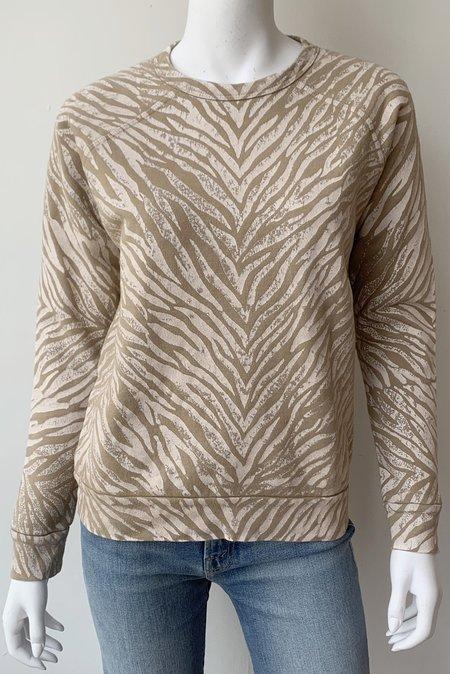 Mother Denim Hugger Striped Sweatshirt - White Stripes