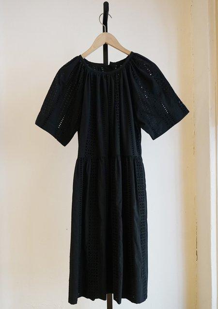 Caron Callahan Amelia Dress - Black Eyelet