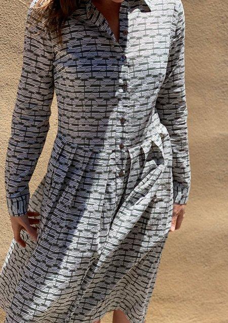 Layla Anshula Shirtdress - Sage green