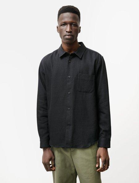 Niuhans Cotton Wool Double Cloth Shirt - Black