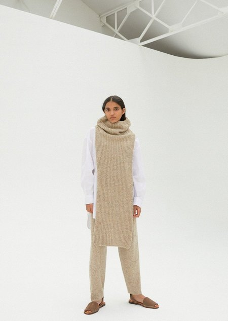 Mónica Cordera Chunky Soft Wool Collar - Natural