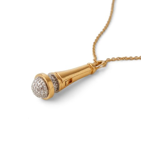 Joan Hornig Jewelry Hot Mic Microphone - Gold
