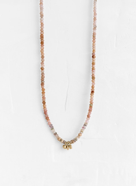 Agas & Tamar Necklace with Gold Drop Elements - 14K Gold