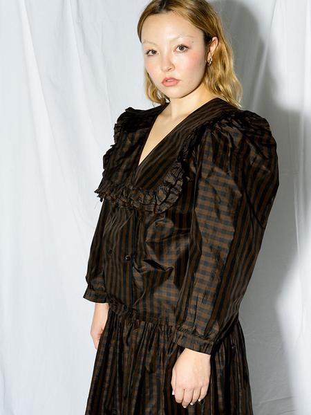 Chelsea Mak Vienna Blouse - Brown/Black Gingham