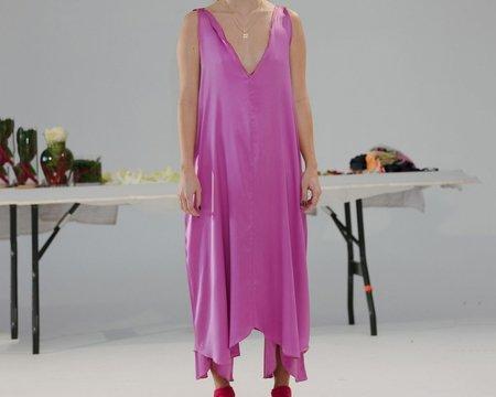 Baserange Cross Silk Satin Dress