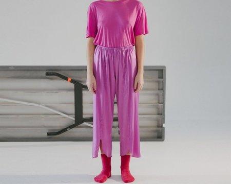Baserange Cross Silk Satin Pants