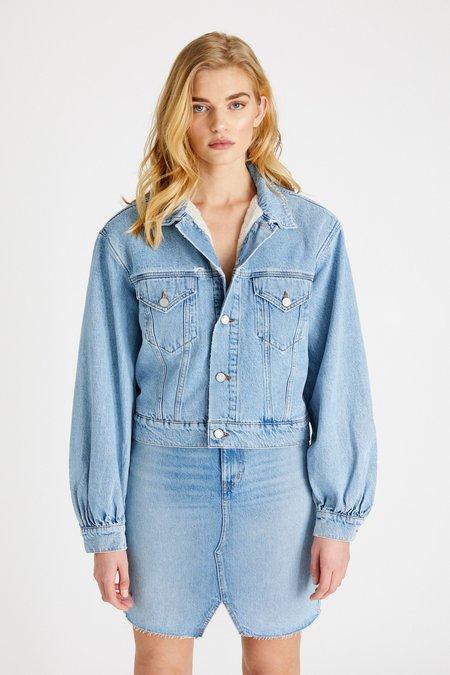 Ética Lauryn Lined Denim Jacket - Ice Blue Indigo