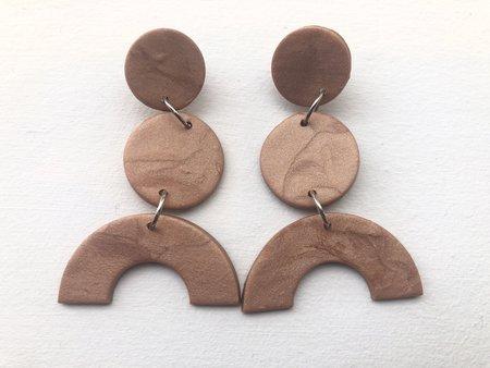 Elise Ballegeer Maya Tiered Arc Earrings - Bronce
