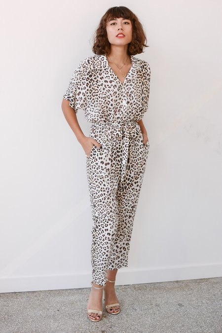 Sway and Cake MARGAUX Jumpsuit - Vanilla Cheetah