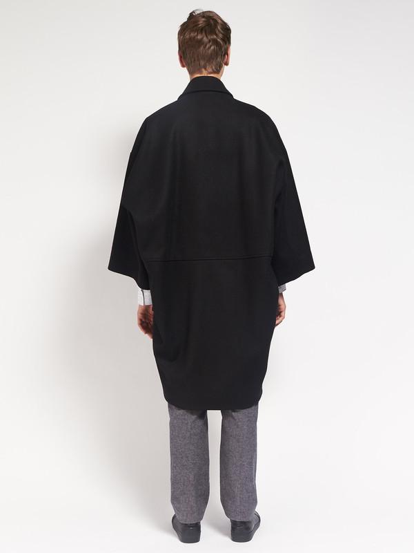 Men's Henrik Vibskov Last Coat Black