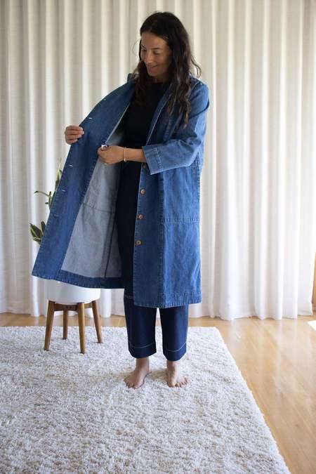 Ilana Kohn Gus Jacket in Washed Denim