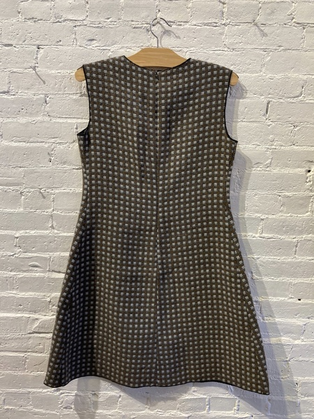 Hache Double Cloth Check 60's A line Dress