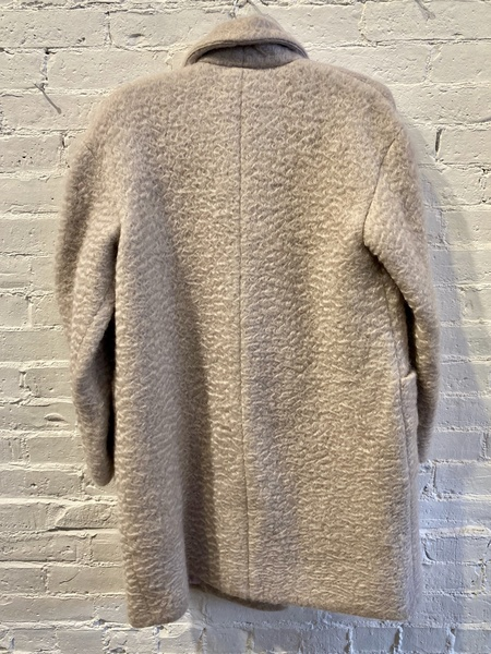 Maryam Nassir Zadeh Mohair Double-breasted Car Coat