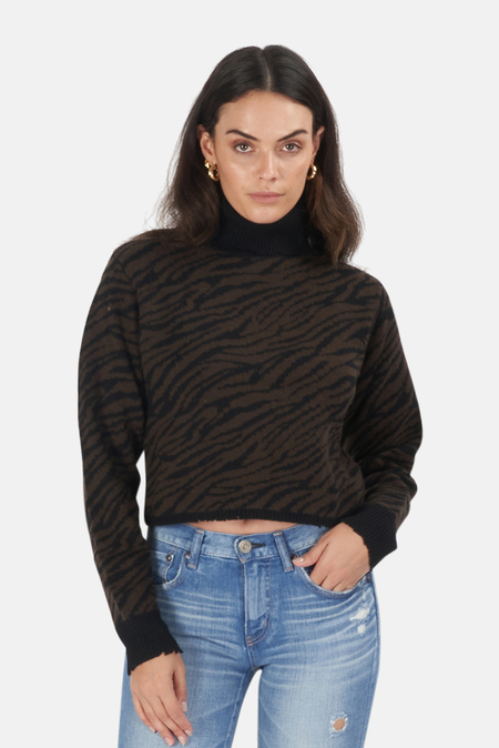RtA Beau Sweater - Cedar Zebra