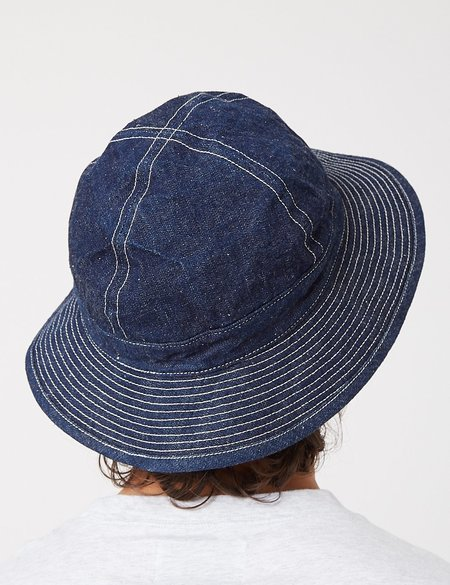 orSlow US Navy Hat One Wash - Navy Blue