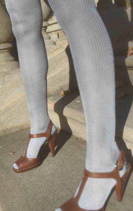 Maria La Rosa Silk Over The Knee Socks - Ticino
