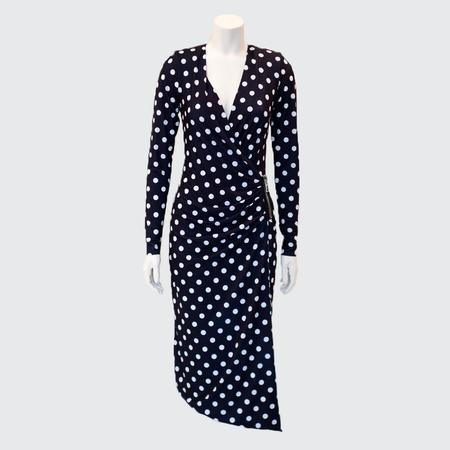 Le Superbe Kasuma Dots Happy Hour Dress - Black/White