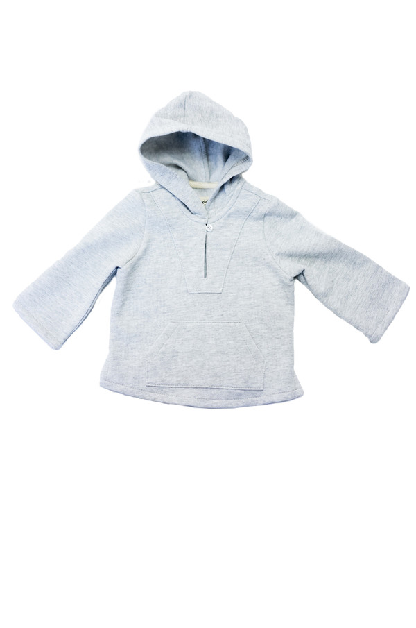 Kid's Boy+Girl Fleece Baja Poncho - Varsity White