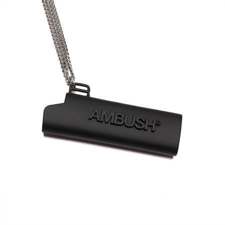 AMBUSH Logo lighter case necklace - Brass