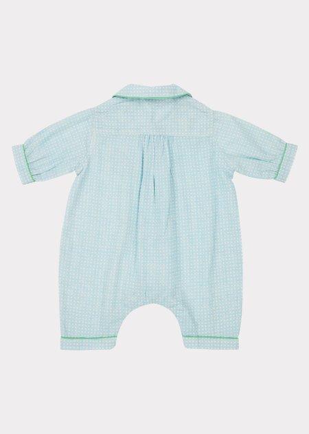 Kids Caramel Pyjamas - Blue Check
