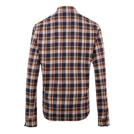 DSQUARED2 Dan Check Flannel Shirt - Blue/Brown
