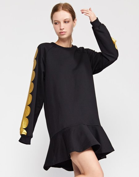 Cynthia Rowley Sofie Printed Scallop Sweatshirt Dress
