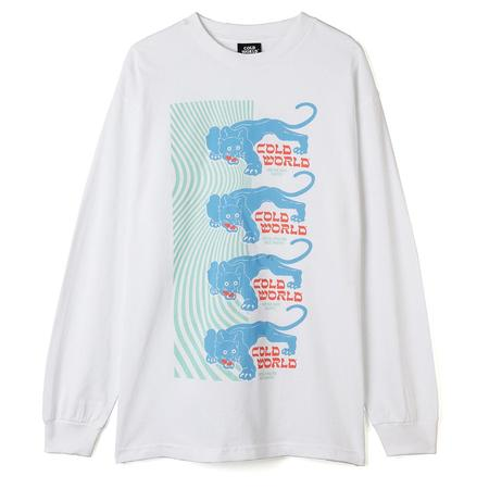 Cold World Frozen Goods Panther Long Sleeve T-shirt - White