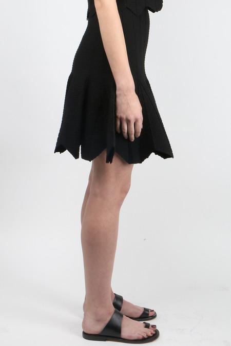Jonathan Simkhai Pointelle Scallop Skirt - BLACK