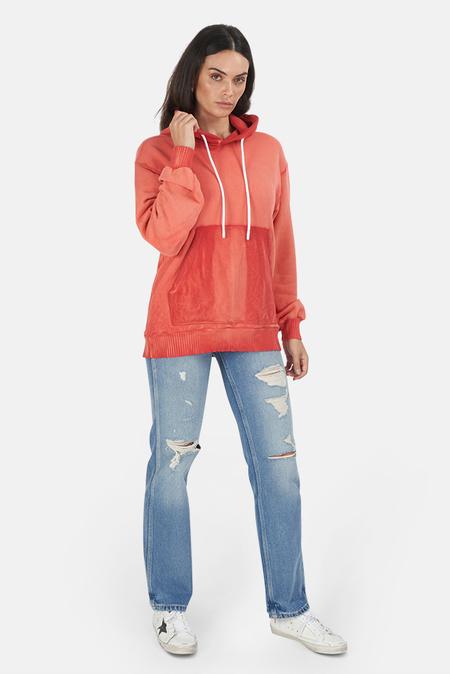 Cotton Citizen Brooklyn Pullover Hoodie Sweater - Peach mix