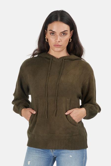 Cotton Citizen Lima Hoodie Sweater - Avocado Mirage