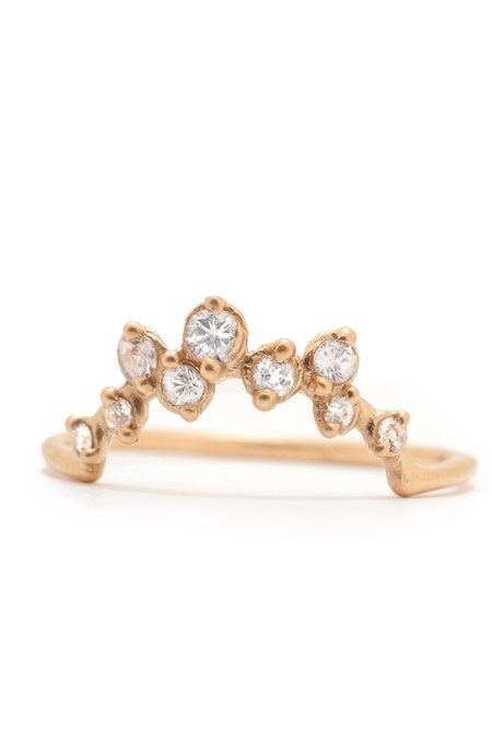 Valley Rose 14K Gold Milky Way Ring - White Sapphire