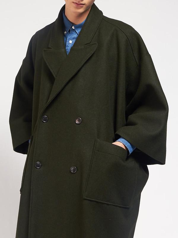 Men's Henrik Vibskov Last Coat Hunter Green
