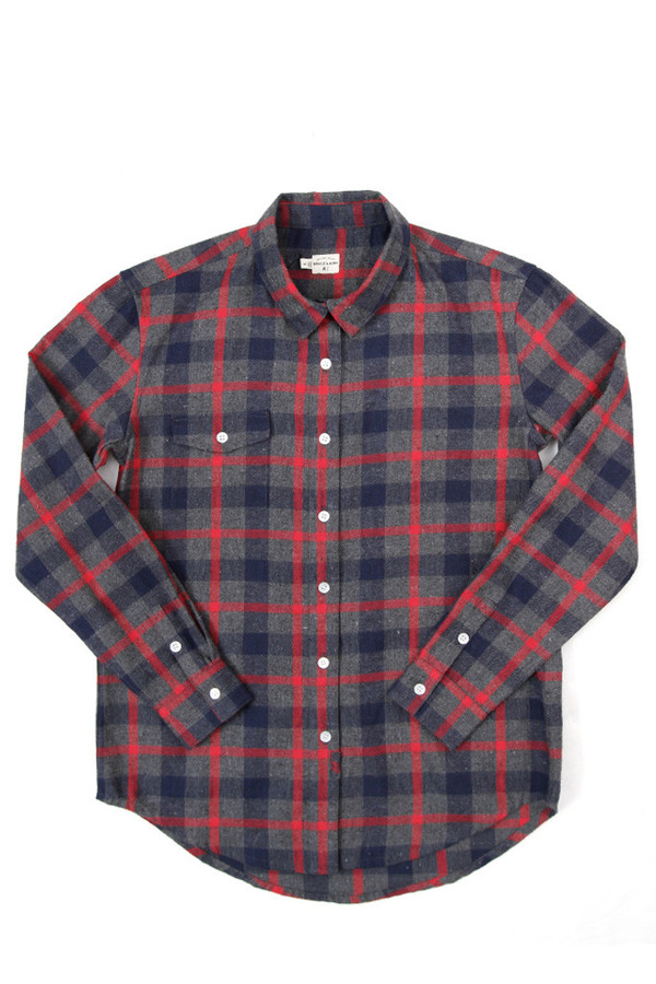 Bridge & Burn Bird Charcoal Plaid