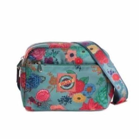 KIDS oilily color splash shoulder bag - sea breeze