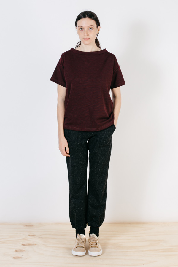 Bridge & Burn Elise Burgundy Slub Knit