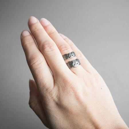 Arcana Obscura Taphophile large Ring - sterling silver