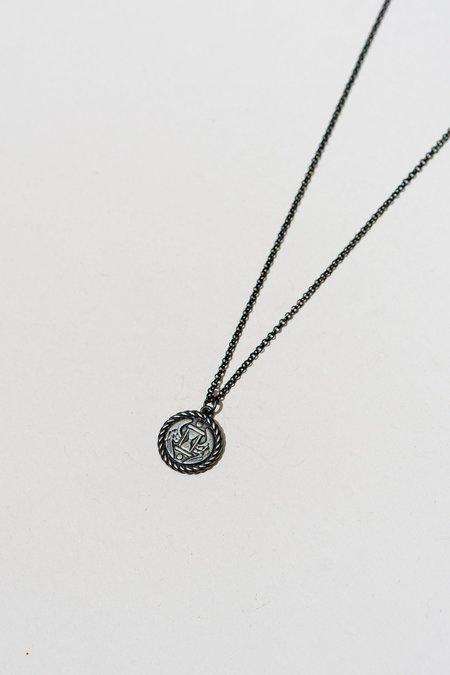 Arcana Obscura Tempus Fugit Necklace - Oxidized Silver