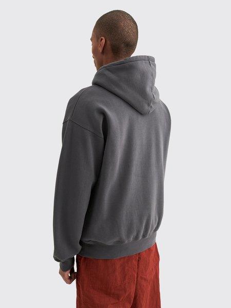 Tres Bien Quartersnacks Arch Script Hooded Sweatshirt - Graphite