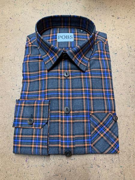 Product Of Bob Scales Shop Shirt - Orange Windowpane