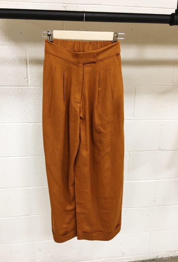Ali Golden Roll Cuff Pant Rust