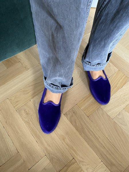 Drogheria Crivellini Velvet Slippers - Purple