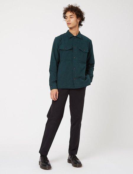 Bhode Cotton Moleskin Overshirt - Forest Green