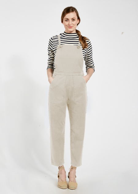 Mabel and Moss Knot Overalls - Ivory