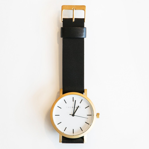The Horse Original A7 Brushed Gold Black Band