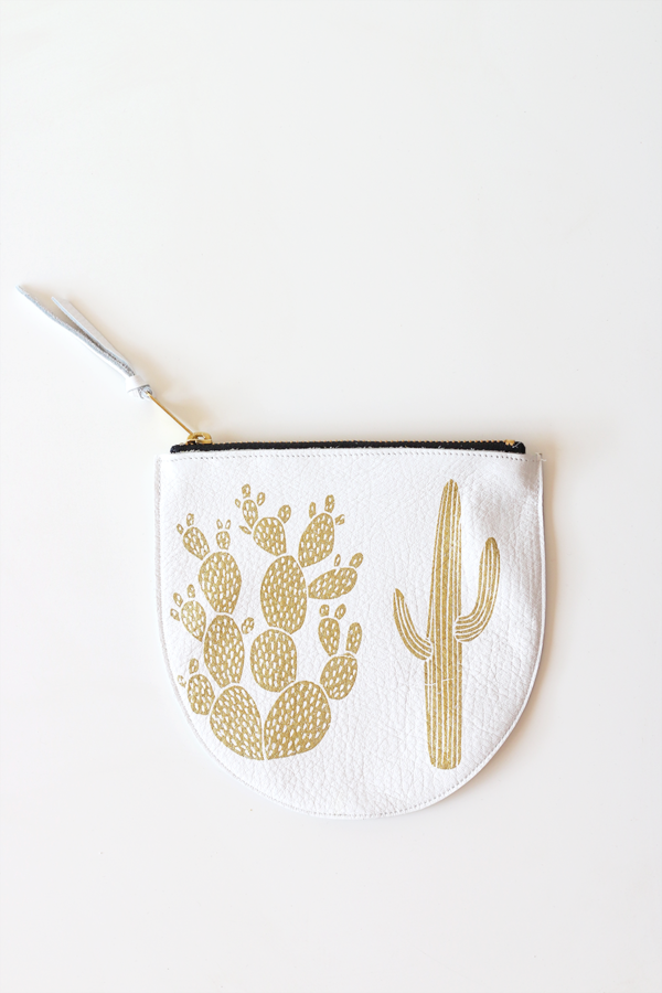 Cactus Pouch in Leather
