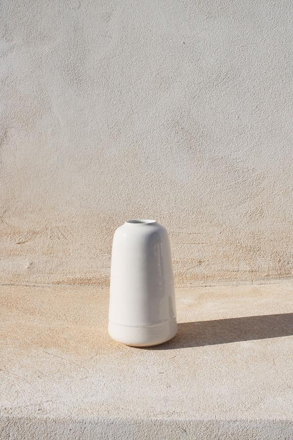 Pilar Vase in White